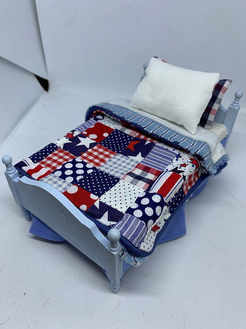 1/12th single bed - Benjy (patchwork)