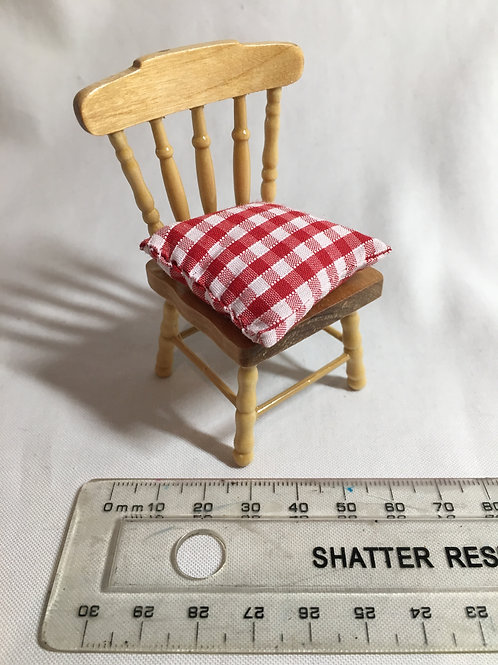 Chair - Pine / Red Gingham