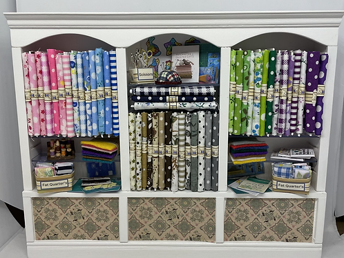 1/12th Triple Haberdashery Quilters Shelf