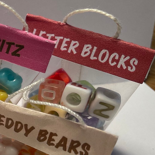 Toy Bag - Letter Blocks