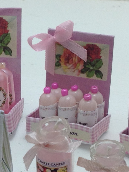 Rose Body Lotion Counter Display