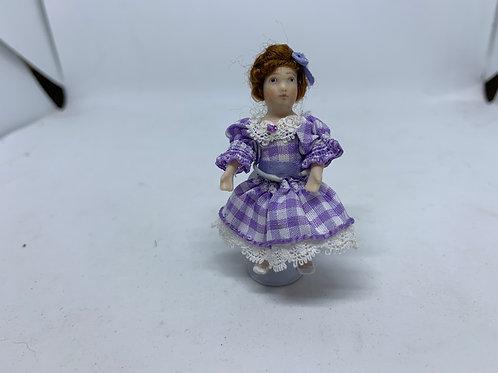 Girl in Purple Dress Doll