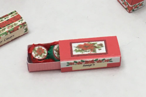Poinsettia Soap Box