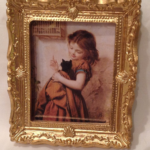 Picture 10 - Girl with Cat & Bird