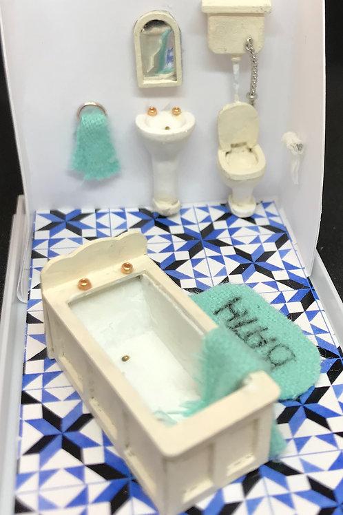 1/48th  - BATHROOM SET WHITE