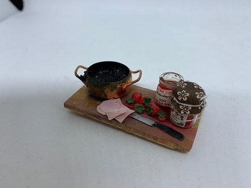 Strawberry Jam Making Board