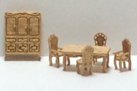 1/144th Scale Furniture Kit -  Victorian Dining Room