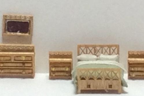 1/144th Scale Furniture Kit - Modern Bedroom