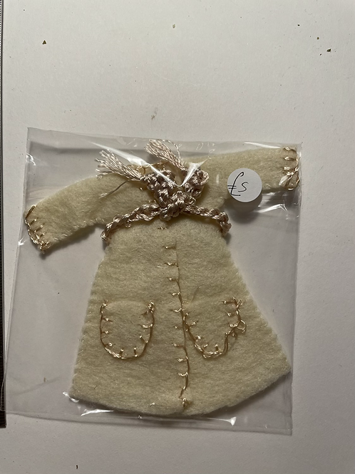 cream coloured Childs dressing gown