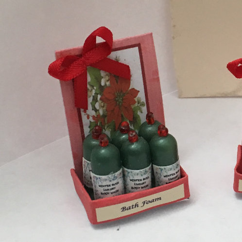 Poinsettia Bath Foam Counter Display