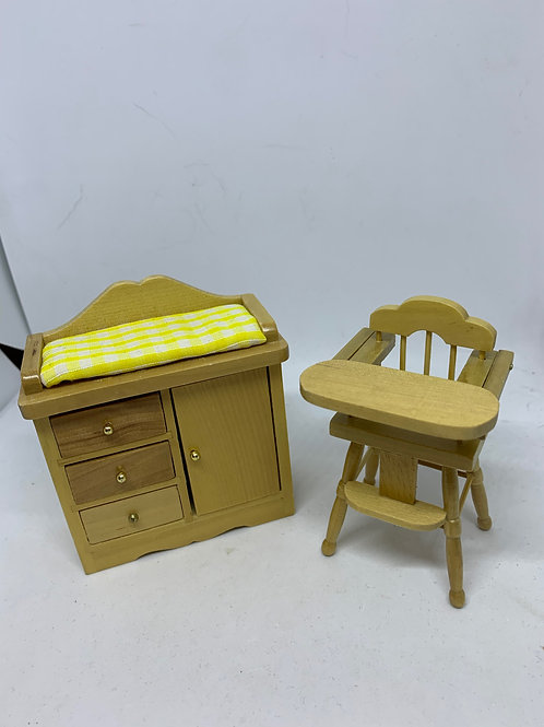 1/12th High Chair and Changing Unit