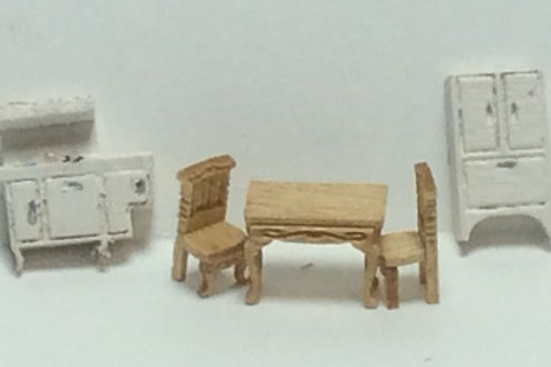 1/144th Scale Furniture Kit -  Victorian Kitchen