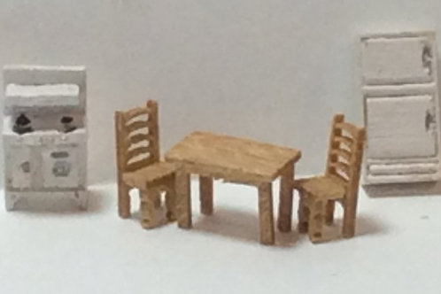 1/144th Scale Furniture Kit -  Traditional Kitchen Room