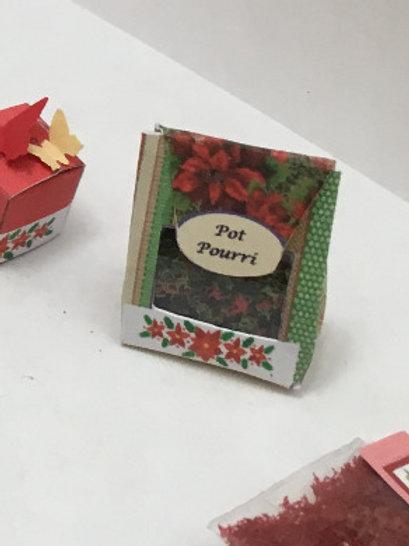 Poinsettia Pot Pourri Box