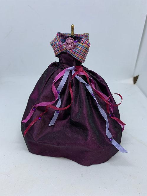 Purple Tartan Dress on Mannequin