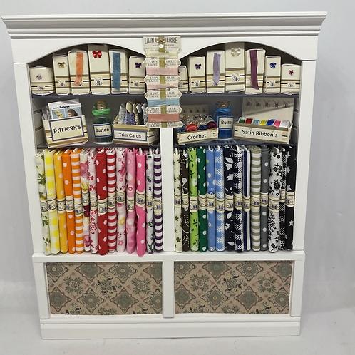 1/12th Double Haberdashery Sewing Shelf