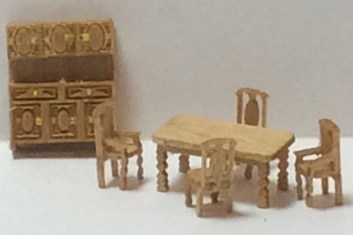 1/144th Scale Furniture Kit - Country Dining Room