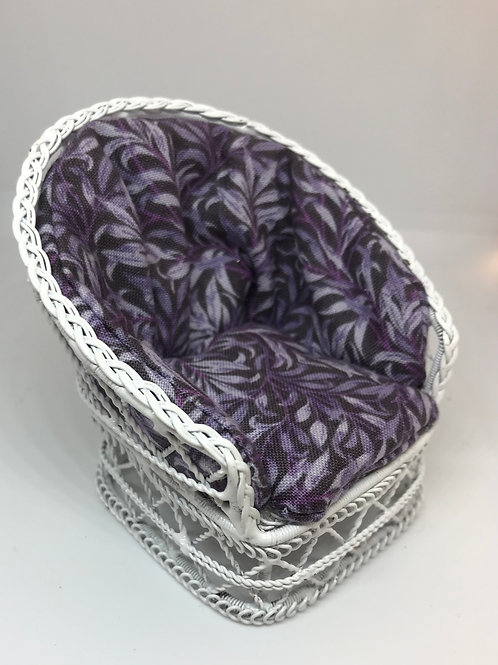 White wire chair - purple willow