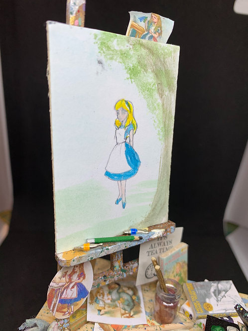 Artist Table - Alice in wonderland