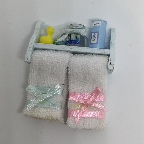 Blue Bathroom Shelf