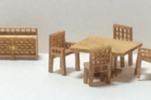 1/144th Scale Furniture Kit - Modern Dining Room