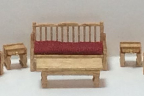 1/144th Scale Furniture Kit - Country Living Room