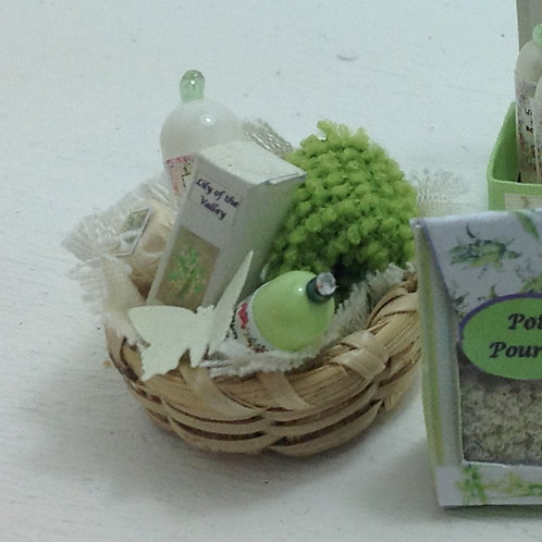 Lily of the Valley Toiletries Basket