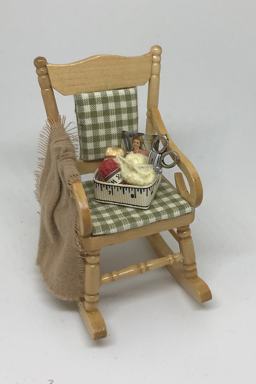 Rocking chair with Knitting Basket