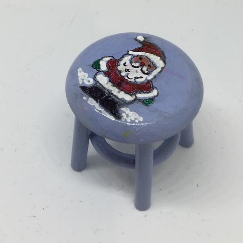 Blue Santa Stool