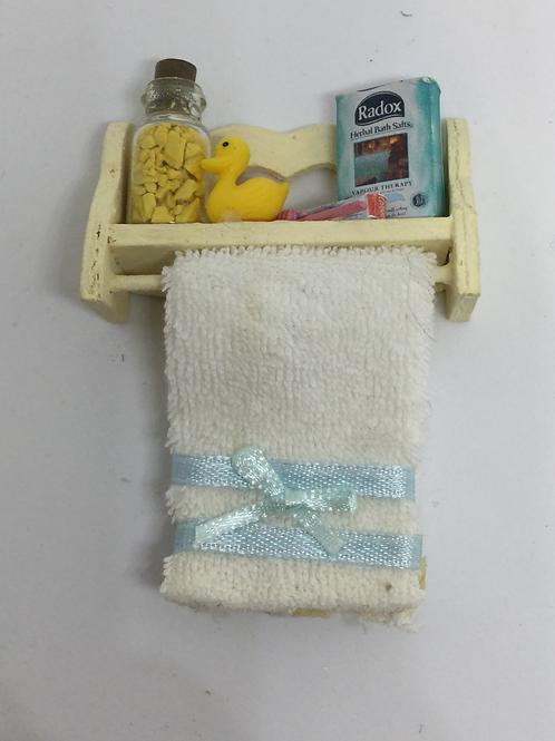 Yellow Bathroom Shelf