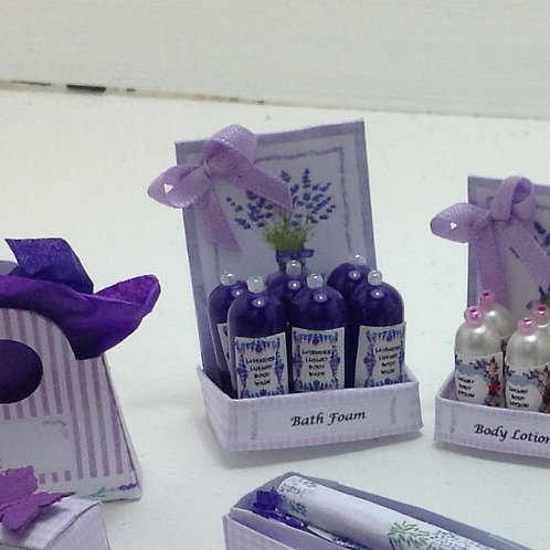 Lavender Body Lotion Counter Display Box
