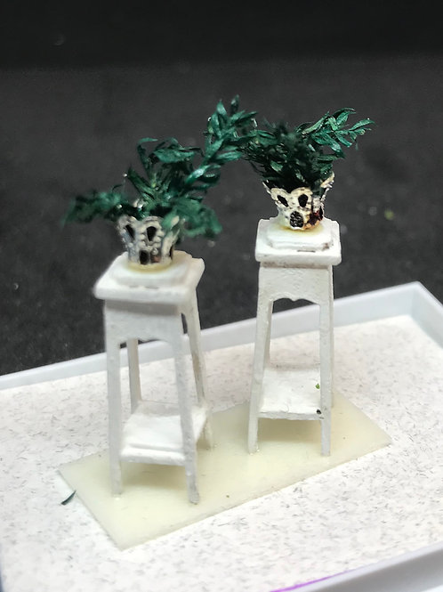 1/48th  - PLANT STANDS S/2 CREAM