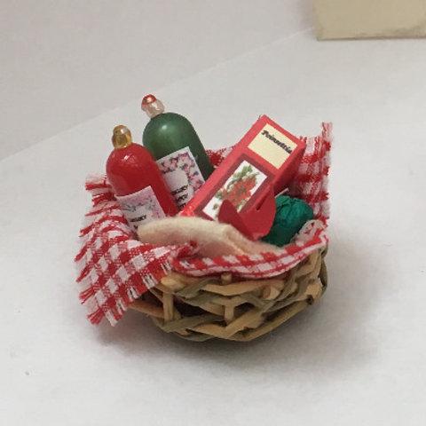 Poinsettia Toiletries Basket Display