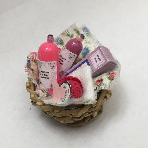 Sweet Pea Toiletries Basket Display