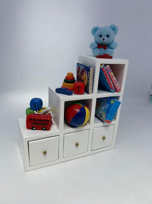 1/12th Boys Stepped Toy Shelf