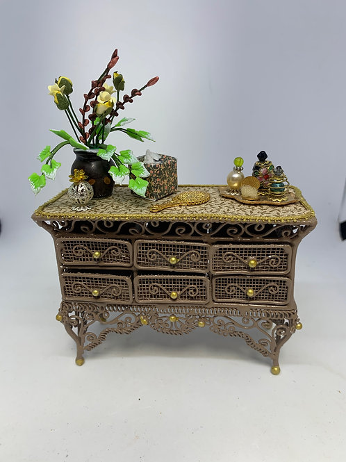Brown Wire Bedroom Drawers