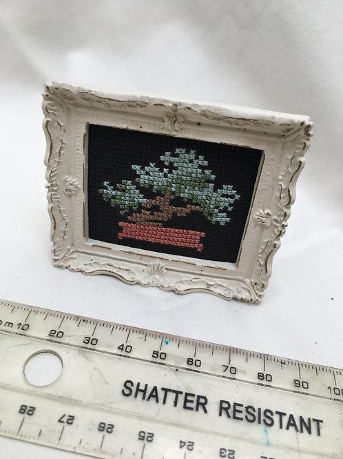 Hand Stitched Bonsai Picture