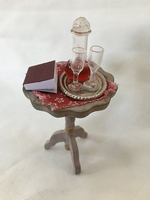 Side Table with Decanter
