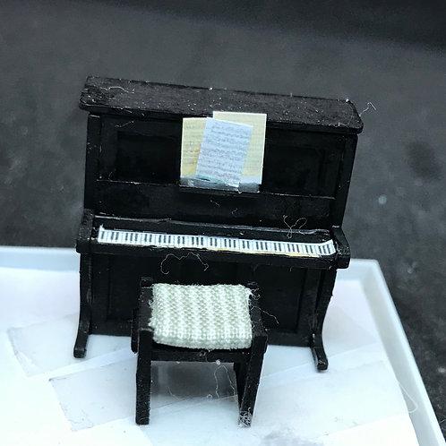 1/48th  - UPRIGHT PIANO BLACK