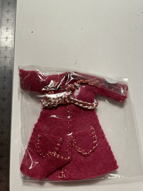 deep pink coloured Childs dressing gown