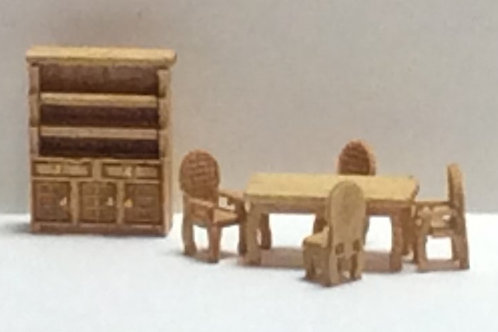 1/144th Scale Furniture Kit -  Traditional Dining Room