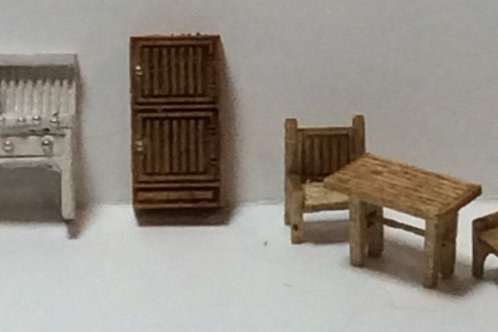 1/144th Scale Furniture Kit - Country Kitchen