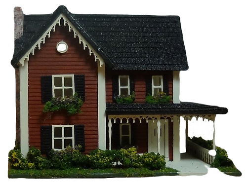 1/144th Scale House Kit - Country Farm House