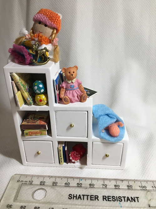 Stepped Toy Shelf