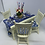 Thumbnail: Blue Dining Table and Chairs