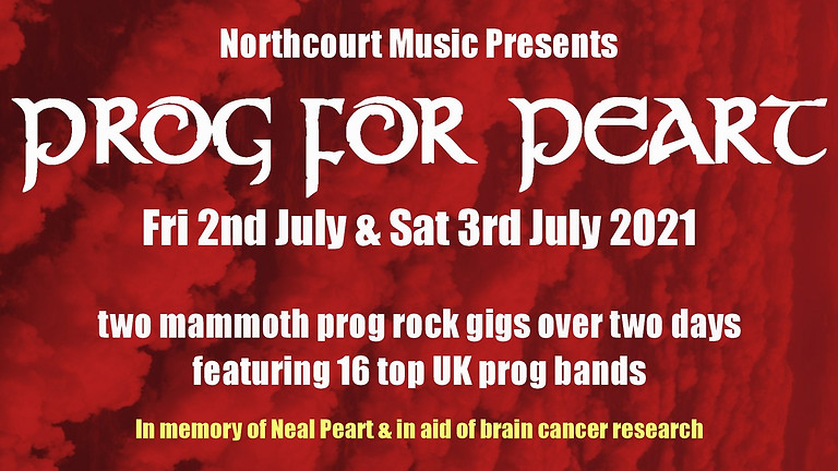 Prog For Peart (The Northcourt Music Venue presents...)