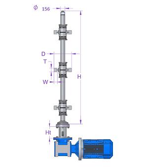 D156 magnetic mixer