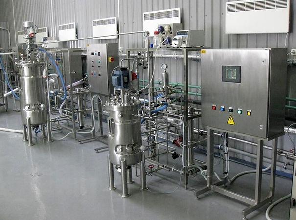 industrial bioreactor line for soil treatment