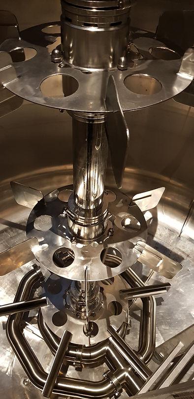 Mixing system in 20 m3 bioreactor