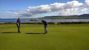 Stromness golf links overlooking Graemsay and Hoy